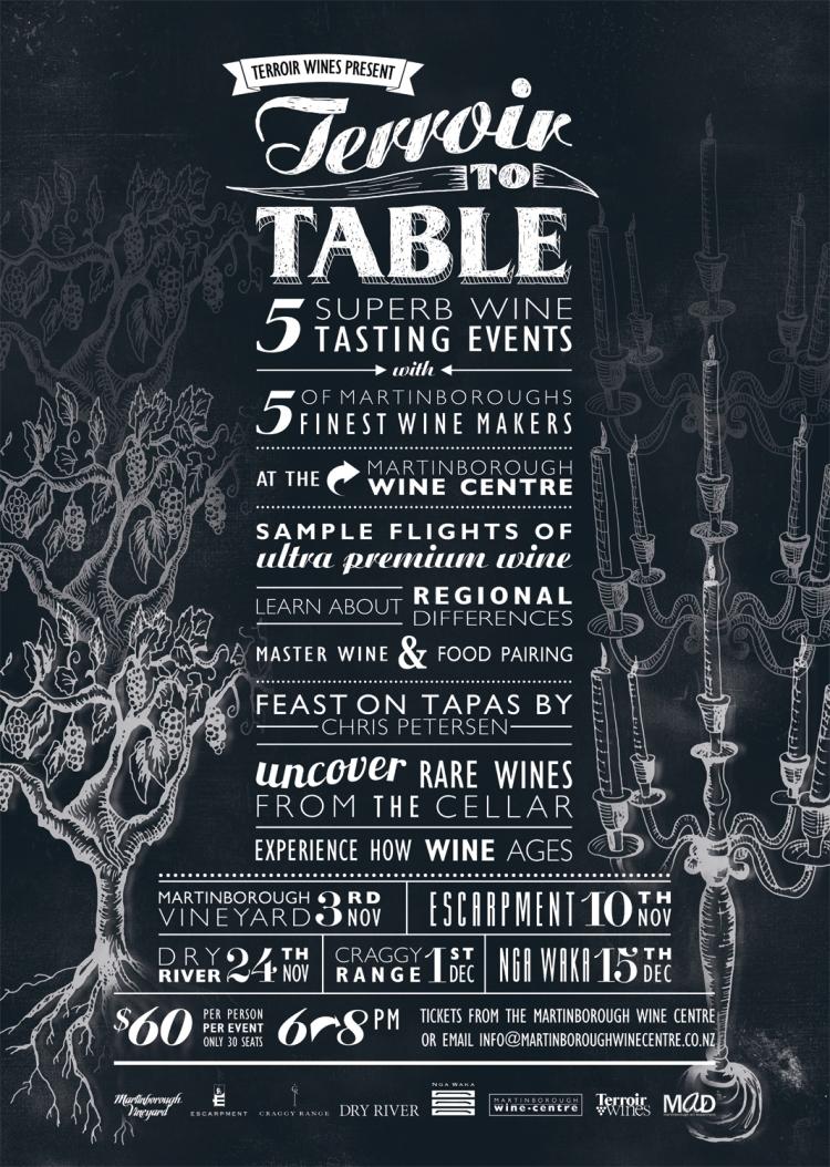 Terroir to Table poster design