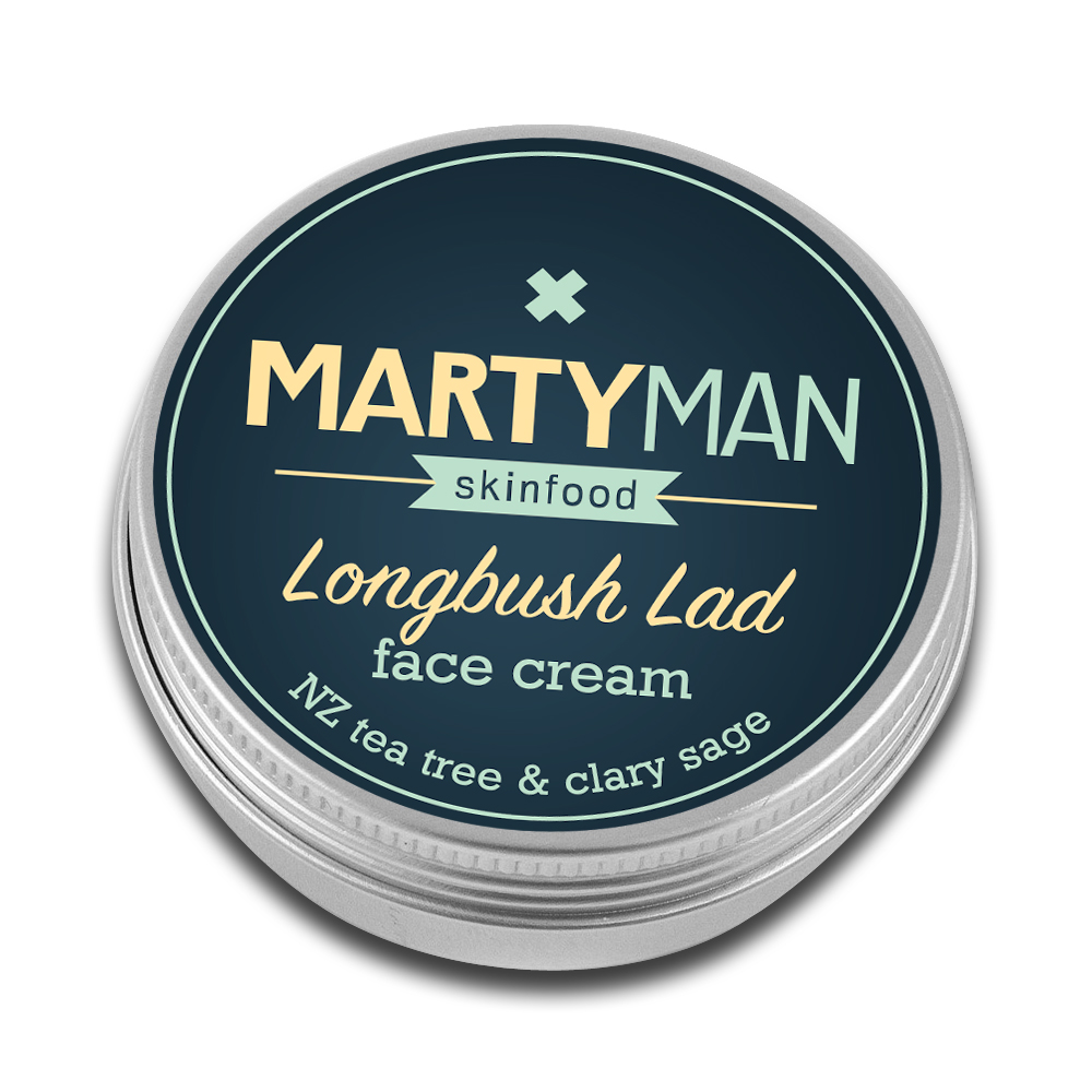 Martyman longbush lad tin cutout